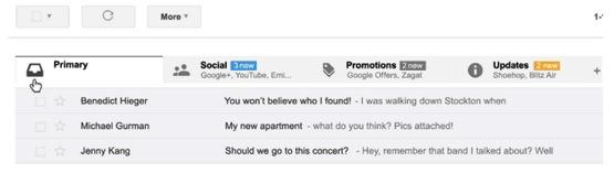 Gmail cho Android sẽ có giao diện mới, phân loại thư đến theo tính chất nội dung