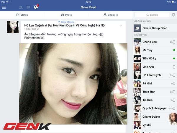 """Ứng dụng Facebook trên iOS cập nhật giao diện """"phẳng"""""""