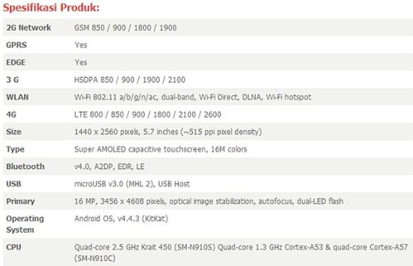Lộ giá bán, cấu hình chi tiết của Galaxy Note 4; Samsung chuẩn bị chiến dịch QC mới