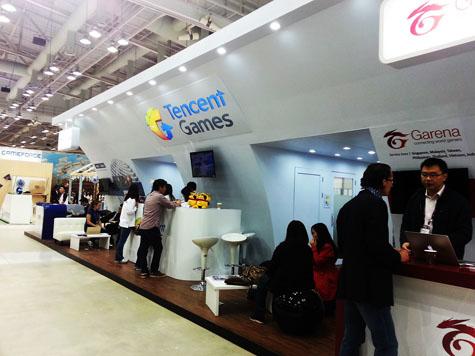 Garena và Tencent tại một cuộc triển lãm game.