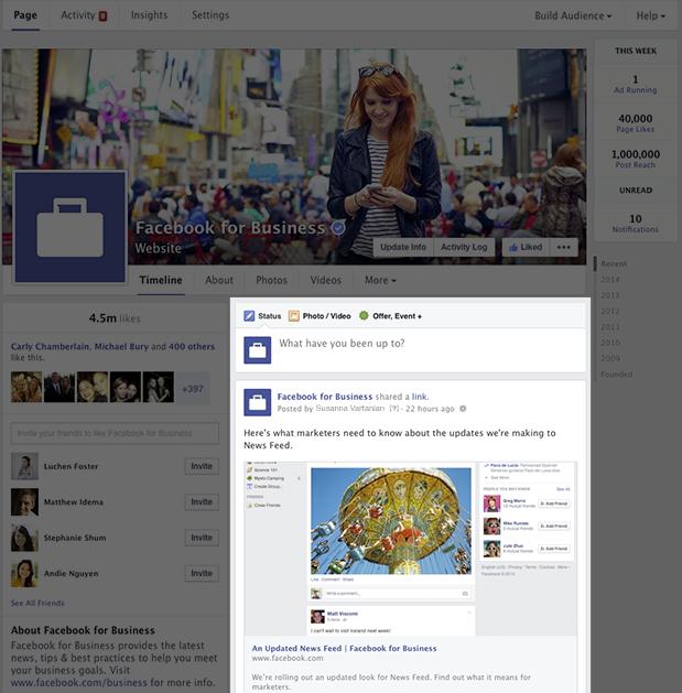 Facebook sẽ áp dụng thiết kế mới giống trang cá nhân cho các Fanpage