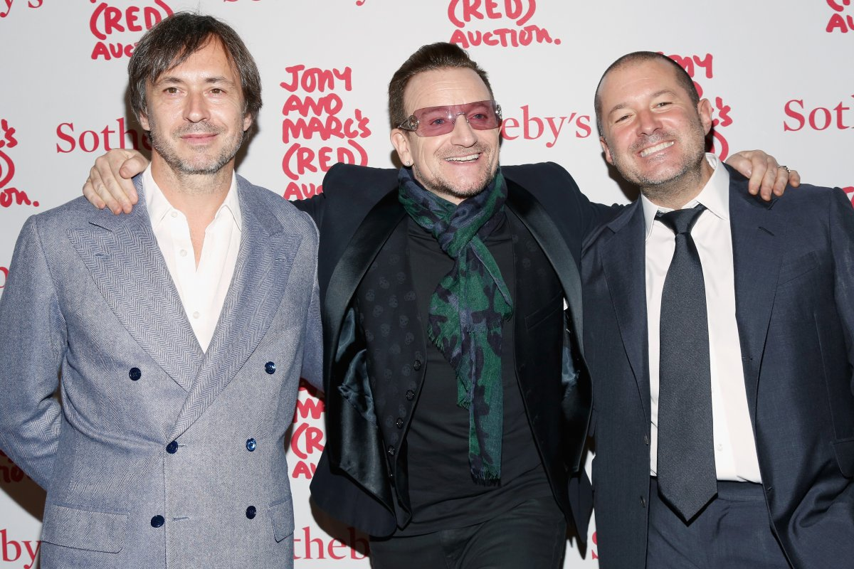 He's friends with Bono and designer Marc Newson, too.
