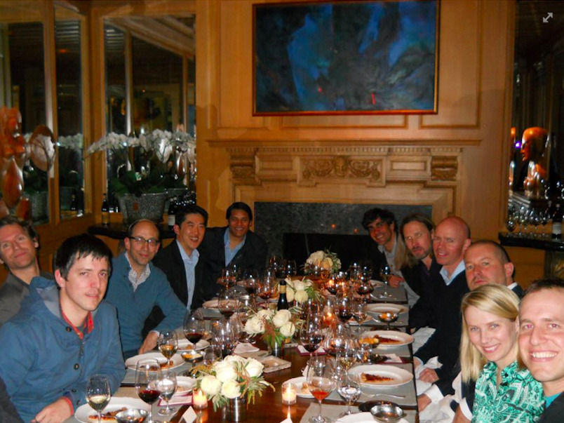 Ive is also close with Yahoo CEO Marissa Mayer. The two sat together at this dinner last year.