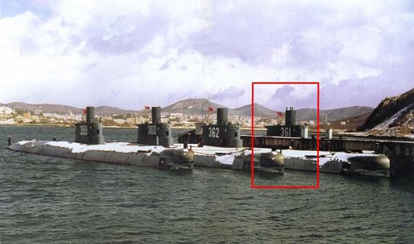 Chiếc tàu ngầm Type 035 lớp Ming mang số hiệu 361 trước khi gặp nạn.