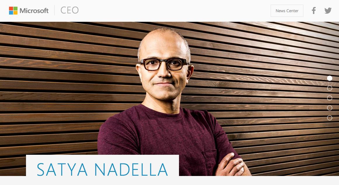 Satya Nadella sẽ là CEO mới của Microsoft.