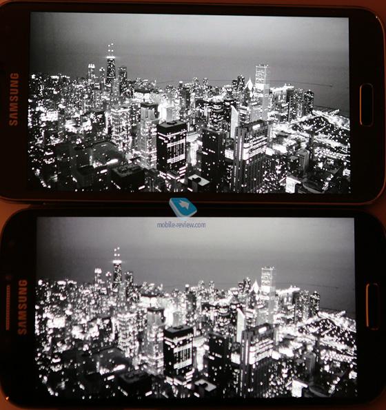 Galaxy S5 at the top vs Galaxy S4 at the bottom