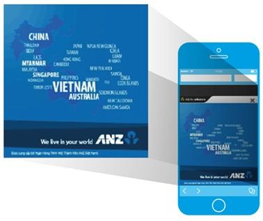 Quảng cáo Pop-Up của ANZ Việt Nam