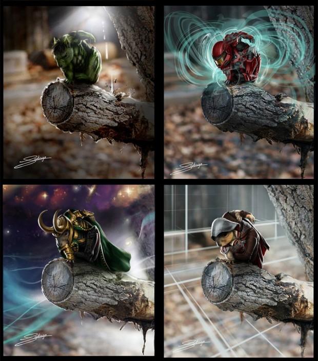Hulk, Master Chief, Loki và nhân vật chính trong series Assassins Creed.