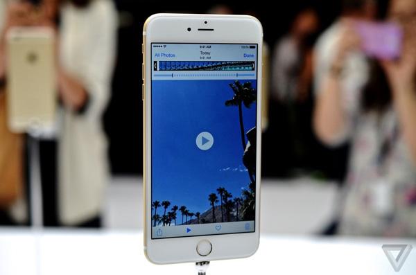 trên tay iPhone 6 plus