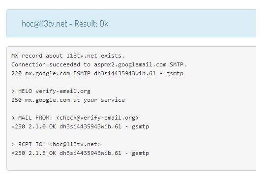 Cách xác thực địa chỉ email là thật hay giả
