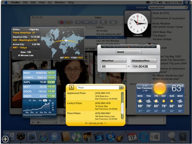 OS X Yosemite 10.10 không phải là lần đầu tiên Apple sử dụng widget