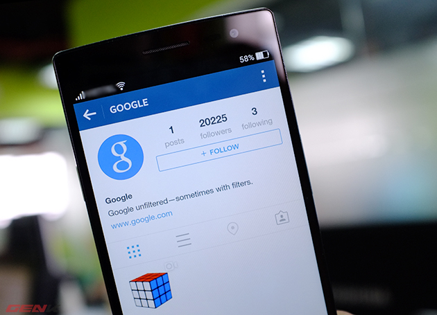 Google chính thức tham gia mạng xã hội hình ảnh Instagram