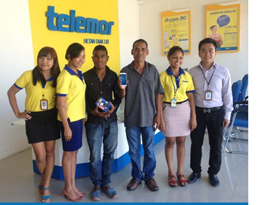 Telemor đã vươn lên dẫn đầu thị trường với 400.000 khách hàng trên tổng 1,2 triệu dân.