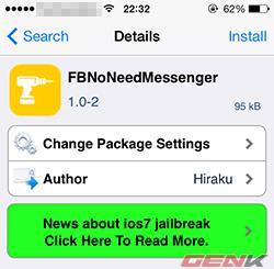 Không cần cài đặt Messenger trên iOS, vẫn có thể chat chit Facebook vô tư