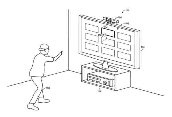 Microsoft wants to make it easier to select and activate objects in a GUI using the Kinect