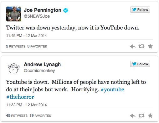 """Đêm 12/3, YouTube """"chết"""" tạm thời trên toàn thế giới"""