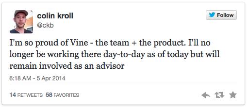 Nhà đồng sáng lập mạng xã hội Vine rời bỏ vị trí tổng giám đốc