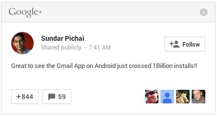 Ứng dụng Gmail cho Android chạm mốc 1 tỷ lượt cài đặt