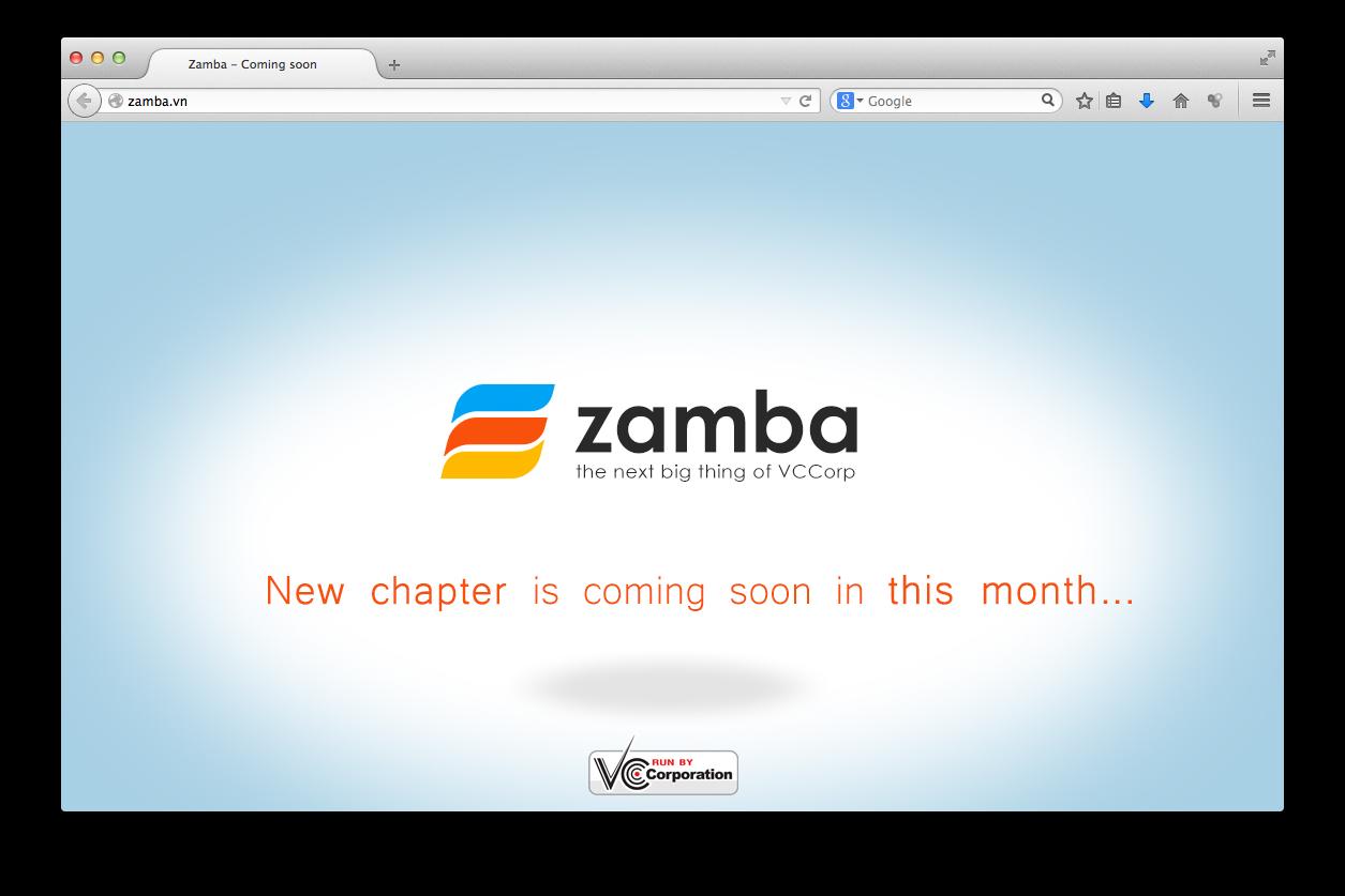"""Zamba sẽ là """"át chủ bài"""" của VCCorp trong cuộc chiến TMĐT?"""