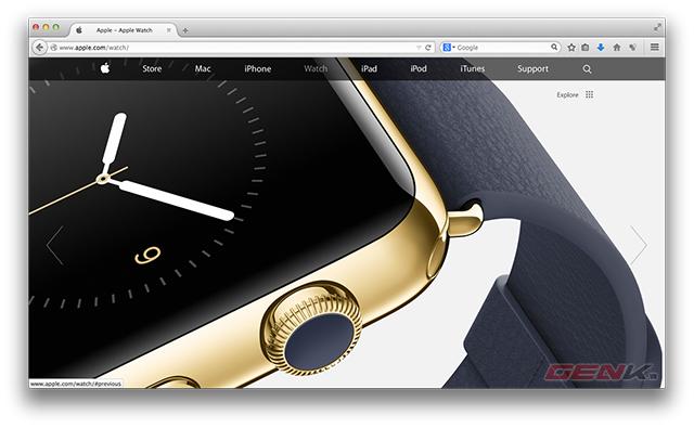 Apple.com thay đổi giao diện phẳng sau sự kiện ra mắt iPhone 6 và smartwatch