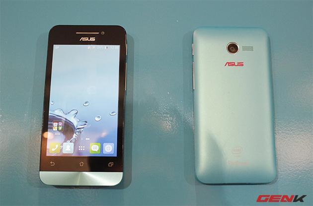 Chiếc Zenfone 4 có thiết kế tương tự Zenfone 5 và Zenfone 6 với kích thước nhỏ hơn, sở hữu màn hình 4-inch.