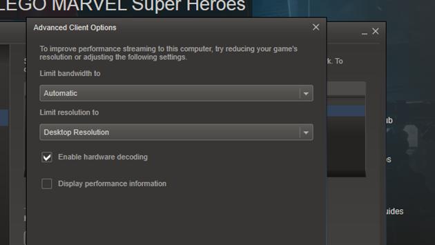 Hướng dẫn thiết lập để tối ưu trải nghiệm dịch vụ stream game của Valve