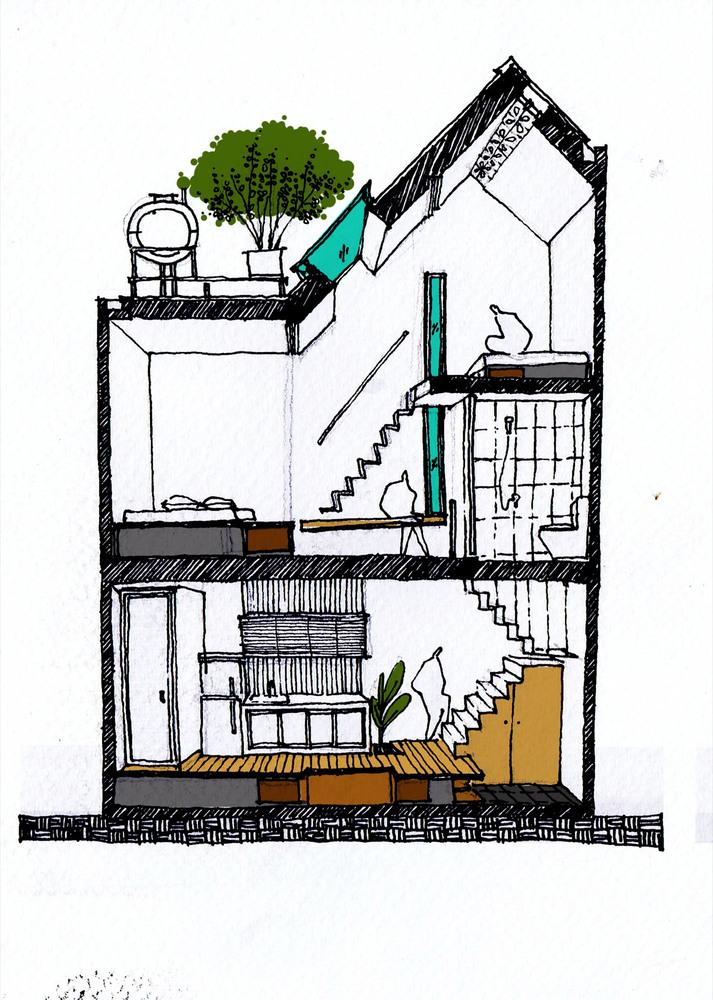 Chỉ với diện tích 2,5m x 6,5m, ai có thể ngờ kiến trúc sư có thể tạo ra không gian sống tiện lợi đến như vậy