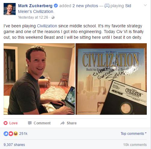 Mark vui sướng thưởng thức tựa game mà anh đã chơi từ bé.