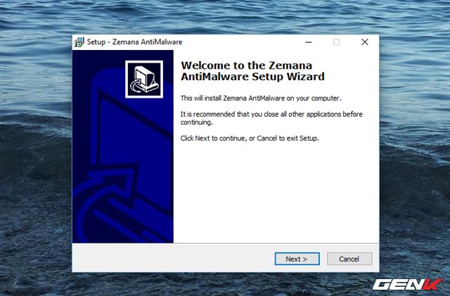 Sau khi tải về, bạn hãy khởi chạy gói tin để tiến hành bước cấu hình cài đặt Zemana AntiMalware vào Windows.