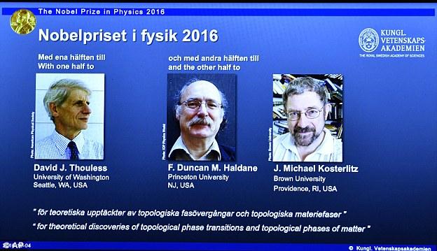 Ba nhà khoa học được vinh danh tại Viện Hàn lâm khoa học Hoàng gia Thụy Điển