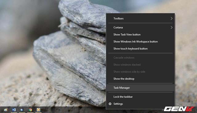 """Nhấn phải chuột vào Taskbar và chọn """"Task Manager""""."""