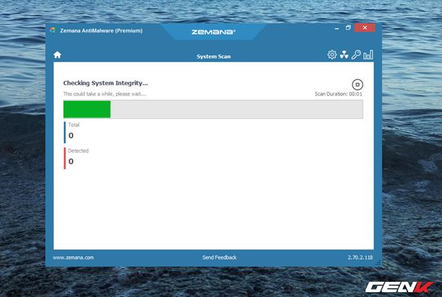 """Bây giờ bạn hãy nhấp vào lựa chọn """"Scan"""" để cho phép Zemana AntiMalware tiến hành quét hệ thống nhằm kiểm, nhận diện và tiêu diệt các mối nghi ngờ có liên quan đến Malware đang hiện diện trên máy tính của bạn."""