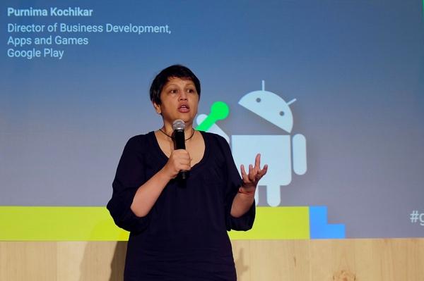 Bà Purnima Kochikar, Giám đốc toàn cầu của Google phụ trách phát triển kinh doanh cho các ứng dụng và game trên Google Play - Ảnh: H.Đ