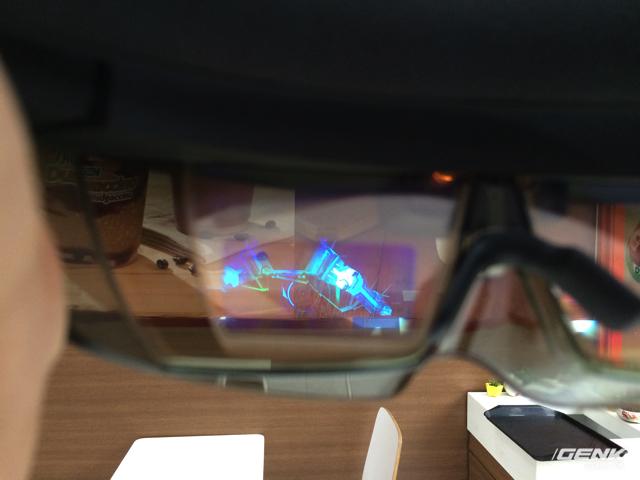 Nội dung hiển thị trong kính.