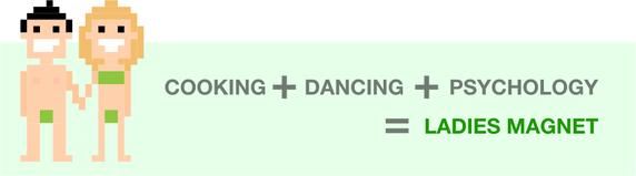 Nấu ăn + Nhảy Múa + Tâm Lý = Hút gái