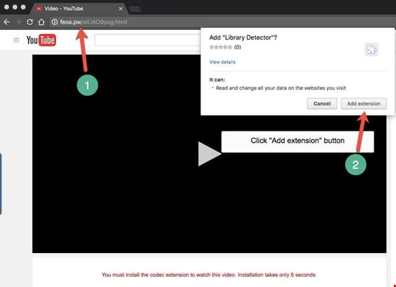 Trang Youtube giả mạo được hacker dựng lên để dụ người dùng.