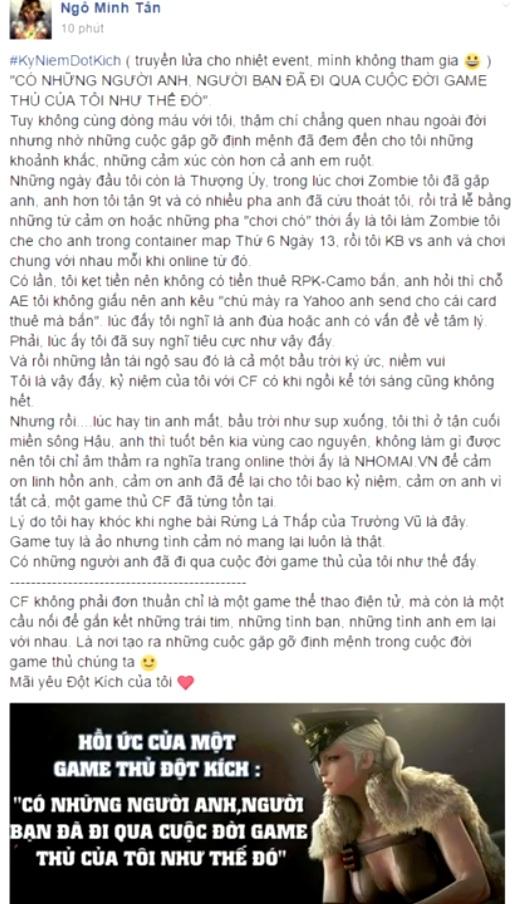 Câu chuyện cảm động của anh Ngô Minh Tân