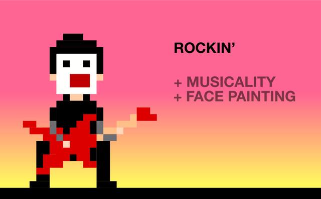 Chơi nhạc Rock: Tăng cảm thụ âm nhạc, tăng khả năng vẽ mặt
