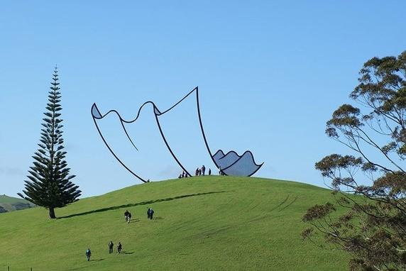 Một tác phẩm nghệ thuật ở New Zealand trông như một thứ từ bộ phim hoạt hình ghép vào đời thật.
