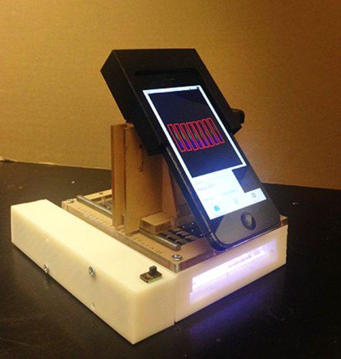 Hình ảnh thực tế của máy đọc phổ smartphone