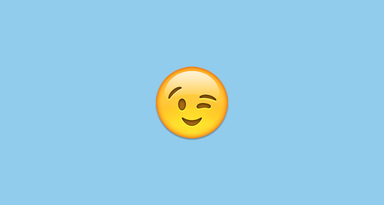 Emoji winking - nháy mắt
