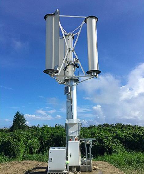 Một mẫu mô hình thử nghiệm turbin sử dụng năng lượng bão