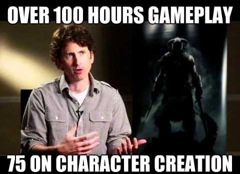 Hơn 100 giờ chơi, 75 giờ dành cho việc tạo nhân vật