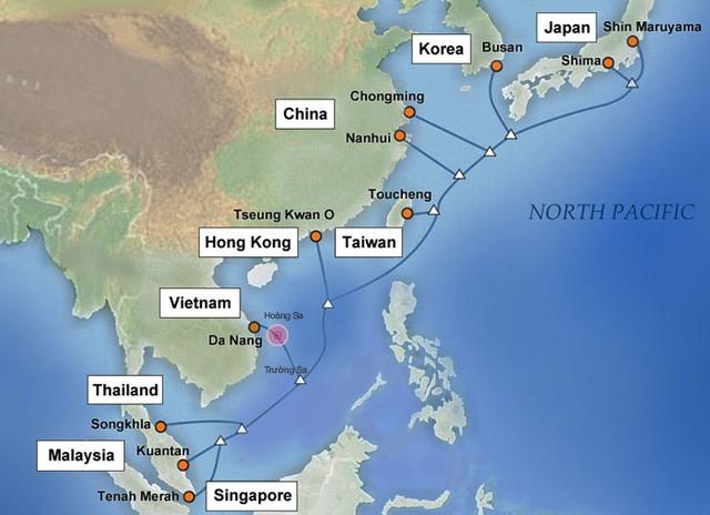 Tuyến cáp quang APG dẫn vào Đà Nẵng