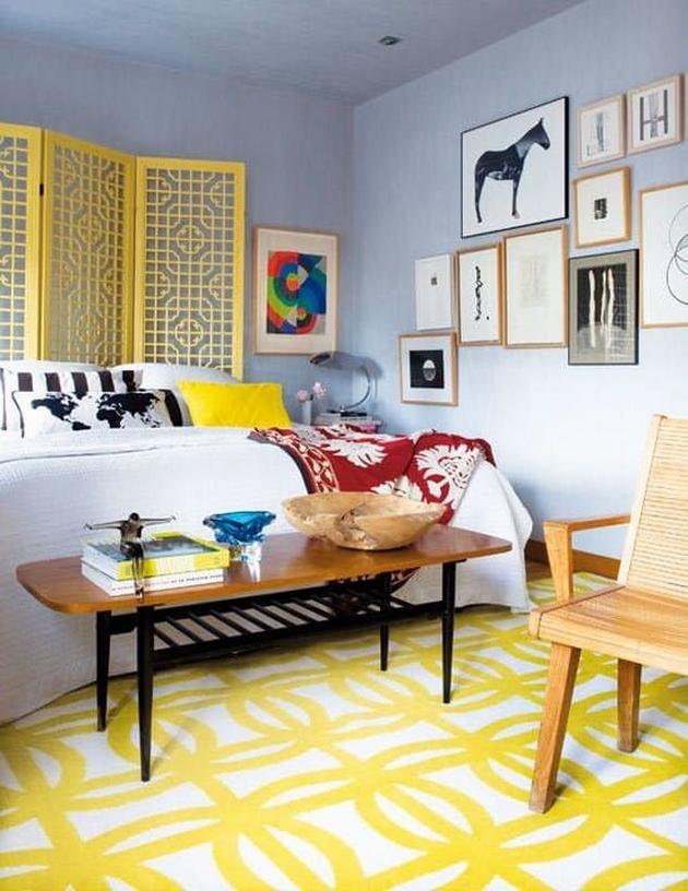 Bạn cũng có thể kết hợp xanh Byzantine với màu nóng như màu vàng mật ong, vàng cam... ở mức độ vừa phải.