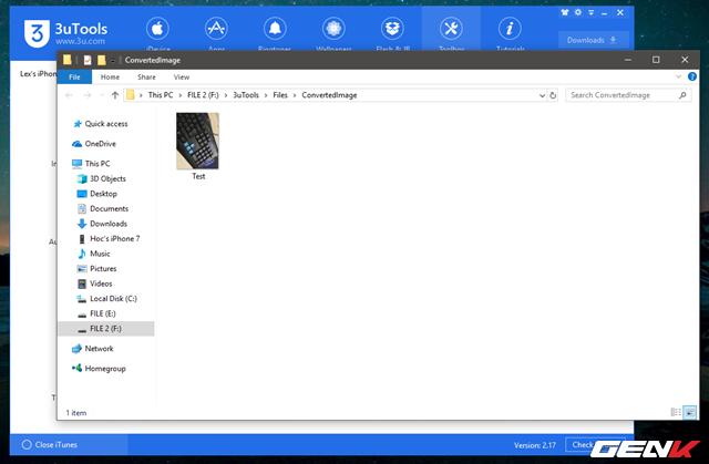 Khi hoàn tất, bạn chỉ việc nhấn vào Open để mở thư mục chứa ảnh chuyển đổi vừa xong.