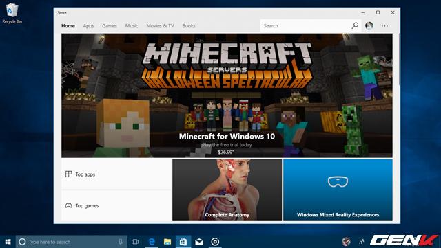 Windows Store được điều chỉnh lại đôi chút.