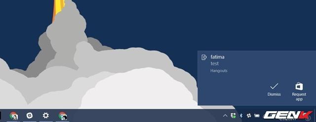 Thế là xong, kể từ giờ bất cứ thông báo nào hiển thị trên Android thì lập tức cũng xuất hiện trên Action Center ở máy tính Windows 10 Creators.