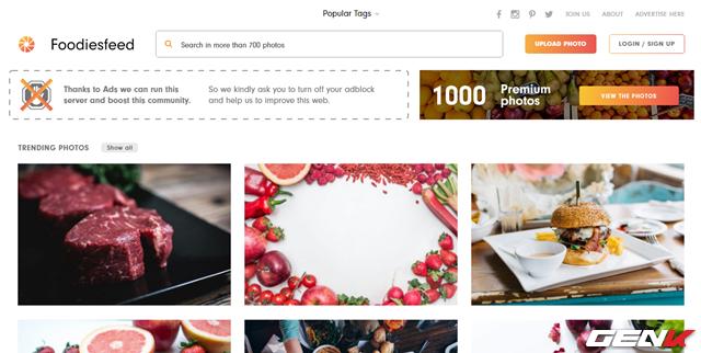 """Như tên gọi, có thể xem đây là """"thánh đường"""" về hình ảnh ẩm thực. Trang web được điều hành bởi Jakub, một nhiếp ảnh gia chuyên chụp ảnh thực tế. Và dĩ nhiên, phần lớn ảnh điều do ông chụp và cung cấp miễn phí cho người dùng."""