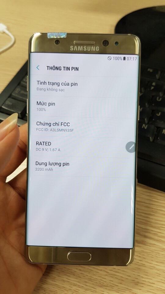 Galaxy Note7 tân trang có pin dung lượng 3200mAh